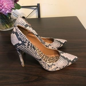 Shoes - Only worn twice snake skin pumps!